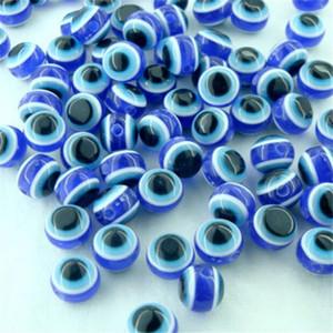 فاصل الخرز جولة مجوهرات العثور الأزرق الملكي الاكريليك الشر الكرة العين جولة الخرز فاصل لصنع المجوهرات اكسسوارات