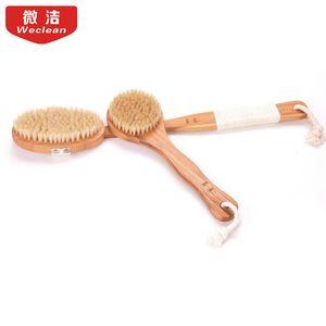 Long bath brush bristles fur rubbing towel, bath brush back back artifact