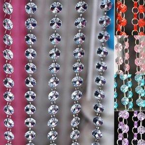 Partido Evening alta qualidade cristalina do casamento da corrente Decoração Crystal Prism Bead Cadeia Prom Party Centerpiece Decoração Pendure Strandes