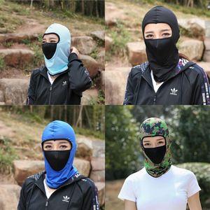 Protector solar Máscaras de ciclismo Cubierta de la cabeza del deporte al aire libre Hilo de malla Gorras de ventilación Comfort Fashion Face Gini 6 5fx Ww