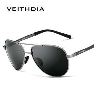 VEITHDIA Männer Sonnenbrille Marke Designer Pilot Polarisierte Männliche Sonnenbrille Brillen gafas oculos de sol masculino Für Männer