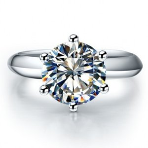 2ct Hot 5A Solitaire Wedding Zircon Cz 925 Sterling Silver Sz Engagement Gift Band Ring Women 4-10 Choucong Dsndf