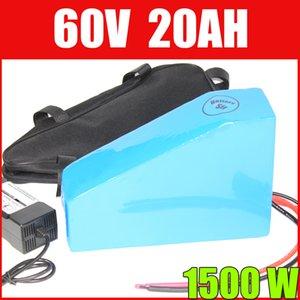 """Bateria de íon de lítio do bloco da bateria do triângulo de 60v 20ah bateria de motocicleta do """"trotinette"""" do ebike de 60v 20ah 1000W 1500W"""
