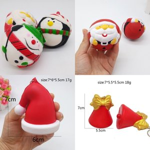 Resina Squishy Christmas Toy Simulazione Snowman Decompression Babbo Natale Xmas Tree Slow Rebound Decompression Toys 6 65xb hh
