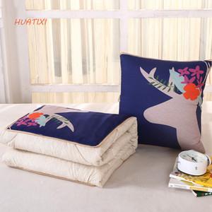 HUATIXI 2018 Fashion Cartoon Series Coussin par Pillow Office Pause déjeuner par Multi-function Cushion par Pillow Air Conditioner Can