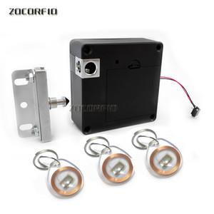 Обновление RFID без ключа скрытый шкафчик шкаф замок закрытый замок замок черный электронный электронный невидимый цифровой шкаф дверной замок