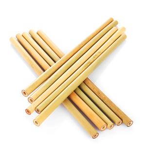 Bamboo paglia ecologico riutilizzabile Bamboo Cannucce 19,5 centimetri 23 centimetri Bevande di bambù cannucce Brush Cleaner festa di compleanno di nozze barra degli strumenti