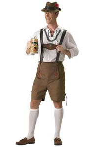 Erwachsene Oktoberfest Kostüm Lederhosen Bayerisches Oktoberfest Deutsches Festival Bier Halloween für Männer Bier Kostüm M-XXL sexy