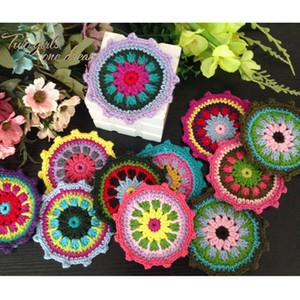 Colori Fai da te originali 12cm Stella Crochet Doilies Tabella Wedding Decor Centrino Tovaglietta Abbigliamento Accessori 30pcs / lot