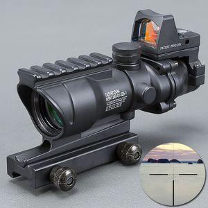 Trijicon firmasına Tüfek 20mm Kırlangıç Refleks Optik Kapsam Taktik Ücretsiz Nakliye için ACOG 4X32 Yüksek Kaliteli Kapsam teleskop BK Sigh