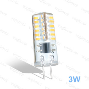 LED Bulbs G4 3W 48LED DC12V Warm White Corn Bulb 360 Silicone Lamps For Crystal Chandelier Pendant Lamps Spotlight Bulbs DHL
