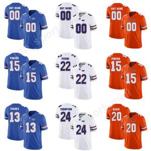 Nome personalizzato numero 15 maglie Eddy Pineiro uomini bambini Florida Gators College Football 13 Feleipe Franks 22 Lamical Perine 24 Mark Thompson
