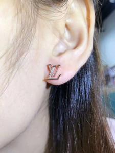 925 신사용 스터드 귀걸이 편지 귀걸이 장식 귀걸이 골드 실버 쥬얼리 액세서리 여성용 선물 여성 무료 배송