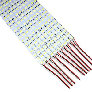 Çift Sıra 1m DC 12V 144pcs * SMD 5630 5730 LED Bar Sert LED Şerit 100cm Kabine Işık Beyaz 50m / lot
