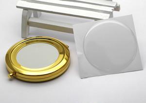 70mm or blanc miroir compact bricolage métal miroir de poche bricolage ensemble # M070KG 100 pièces / lot LIVRAISON GRATUITE