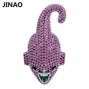 Jinao Hip Hop di modo del carattere Super Majin Bu ciondolo personalizzato collana cubico zircone per i regali di Natale Maschio