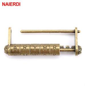NEW NAIERDI Zinc Alloy Antique Bronze Retro Combination Lock 5 Letter Password Lock Jewelry Box Padlock for Wooden Suitcase Drawer