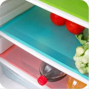 4 pezzi / set moda pad frigorifero antibatterico antifouling muffa pad assorbimento di umidità pad tappeti impermeabili