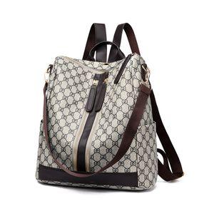2018 Fashion Design Frauen-Rucksack-Qualitäts-Jugend Leder Rucksack für weibliche Teenager Weiblicher Schule Umhängetasche Bagpack mo