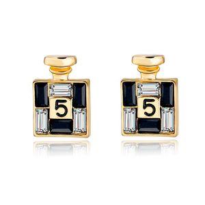 Chegada nova Moda Bijoux Brincos Canal de Ouro para As Mulheres de Cristal Do Parafuso Prisioneiro Brincos enfeites de personalidade feminina