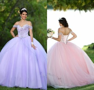 Crystals Beaded Ball Gown Floor Length Organza Quinceanera Dresses 2019 Straps Neckline Capped Sleeve Beaded Crystal Girls Prom Dress