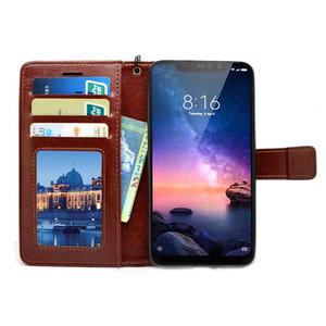 Para Redmi nota 6 Pro PU + TPU Flip couro Case Magnetic Cover Wallet Com Cordão