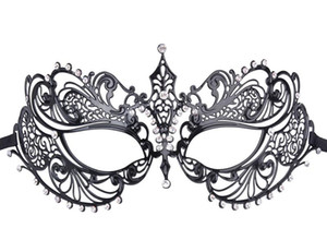 Newest Fashion Party Half Face Mask Laser Cut Rhinestone Metal Mask Delicate Venetian Cosplay Party Masquerade Mask
