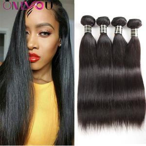10A Naturel Péruvienne Droite Extensions de Cheveux Vierges Soyeux Droite Cheveux Humains 5/6 Bundles Non Transformés Remy Cheveux Tisse Bundles Factory Deal