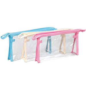 Clear PVC Travel Toiletry Bag Transparent Waterproof Wash Shaving Skin Care Items Cosmetics Makeup Storage Zipper Pouch For Women And Men
