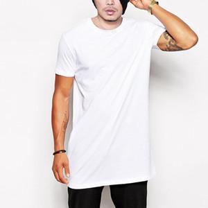 Erkek Giyim T-Shirt Avrupa Tarzı Basit Beyaz Kısa kollu Erkek Kollu Gömlek Pamuk Yuvarlak Yaka Yaz aylarında