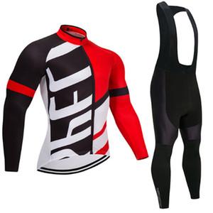 Inverno Pro Manga Longa Conjuntos de Camisa de Ciclismo Respirável 3D Pad Sports Wear Ternos Mountain Bike Bicicleta Vestuário Roupas de Ciclismo C18110301