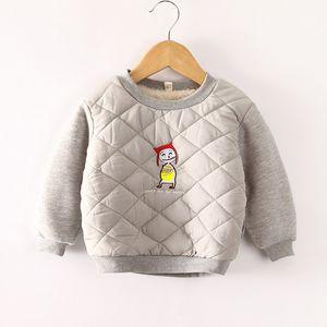 BibiCola outono inverno meninos meninas camisolas dos desenhos animados quente grosso tops crianças outerwear camisola de veludo meninos roupas esporte