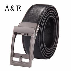 Cintura a cricchetto in vera pelle da uomo Alice Elmer con cinturini automatici per uomo argento