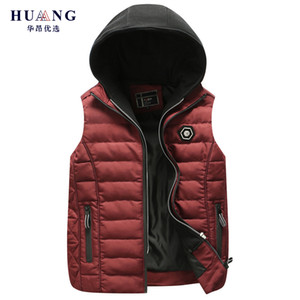 2018 Fashion Brand Hot Sale Winter Hooded Vest Thick Warm Men Jacket Sleeveless Waistcoat Street Hoodie Style Male 4XL Coat ZH1708