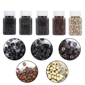 1000PCS/Bottle 5MM Silicone Lining Rings Loops  Tools For Human Hair Extension 5 Colors Hot sales