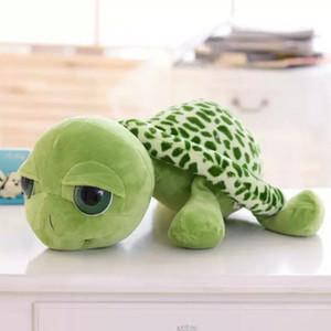 Novo 20 cm Super Green Big Eyes Recheado Tartaruga Boneca Tartaruga Animal Bebê Brinquedos De Pelúcia Presente Criativo