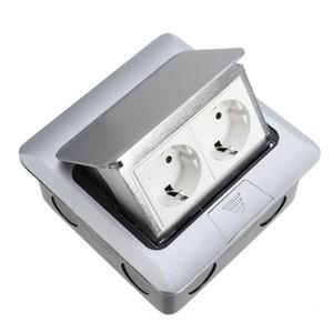 Coswall Tüm Alüminyum Panel AB Standardı Pop Up Kat Soket 2 Yönlü Elektrik Çıkışı Modüler Kombinasyon Mevcut Rus nokta Özelleştirilmiş