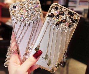 Cristal de luxe Jeweled Diamond Case Pour iPhone XS Max XR X Cristal Strass Glands Couverture Cas Fille Femme Dame style