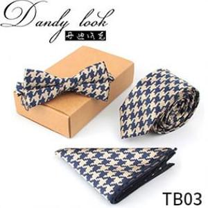 Mens Neck Tie Set jacquard laços administrativos negócio gravatas moda lenço fabricante atacado de três peças