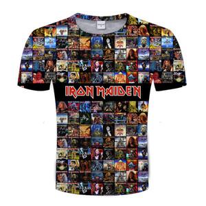 2018 neueste 3d t-shirt Männer Iron Maiden Band Serie 3d Drucken Kurzarm T-shirts Streetwear Hip Hop Männer Plus Größe T shirts