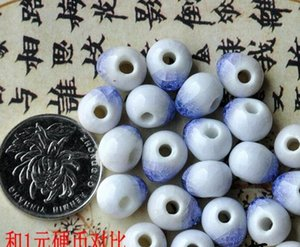 free shipping 50 pcs 10mm , hole size about 2mm Porcelain Beads,mixed color,ceramic DIY loose beads jewelry finding