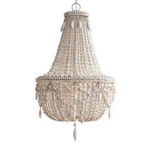 French garden wooden beads restaurant pendant lamp living room personality European Princess children's room bedroom lighting
