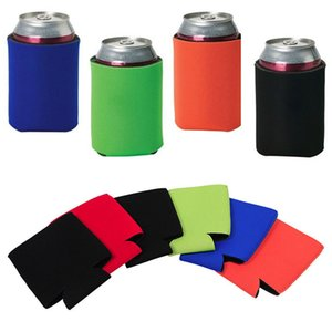 10*13cm Slim Can Sleeves Can Neoprene Beverage Coolers With Bottom Beer Cup Cover Case 4Colors HH7-1161