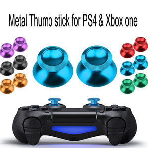Alüminyum Metal Joystick Kap Thumbstick Kapak Joystick PS4 XBOX ONE Denetleyicisi için Caps Düğme Yedek Parçalar Yüksek Kalite HıZLı GEMI