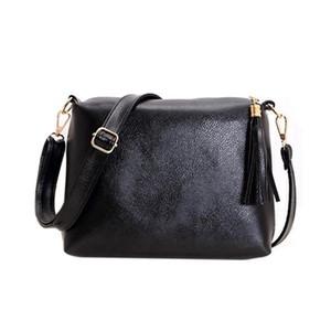 Fashion  Design Women Bag Soft Leather Fringe Crossbody Bag Women Messenger Bags Candy Color Shoulder Tassel Bags