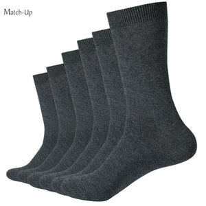 Match -Up Socks New Styles Men Black Business Cotton Socks Wedding Socks (6pairs )Us Size (7 .5 -12 ) Wholesale