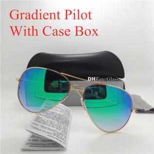 جودة عالية زجاج عدسة بوليت الكلاسيكية نظارات الرجال النساء نظارات uv400 العلامة التجارية مصمم 58 ملليمتر 62 ملليمتر التدرج مرآة للجنسين نظارات الشمس