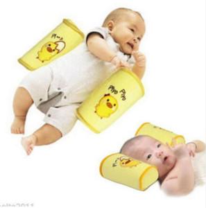 귀여운 유아 아기 유아 안전 코튼 안티 롤 베개 - 수면 플랫 헤드 포지셔너 신생아 베개