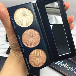 Belleza vidriada Iluminador Rostro Maquillaje Polvos Color 3 Capacidad de reparación Prensado cara Iluminador Contorno Maquiagem Bronceador Polvo