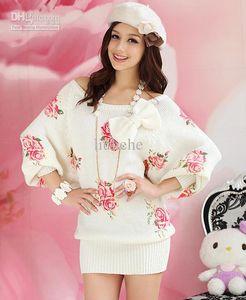 Les fabricants qui vendent des roses imprimées cardigan / pull / section vêtements pour femmes de vêtements à domicile
